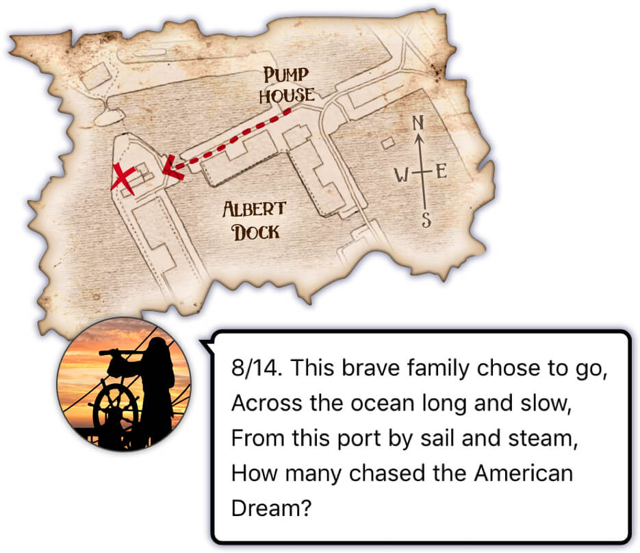 A pirate map and clue from Treasure Hunt Liverpool