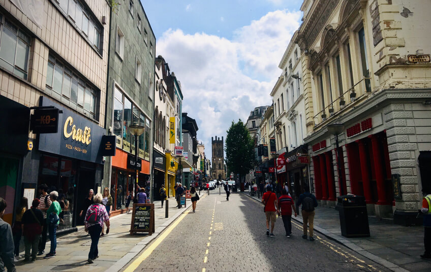 Fun things to do in Liverpool: visit Bold Street