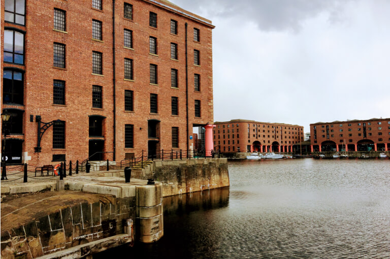 The red brick warehouses of the albert dock